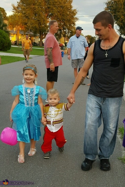 My daughter and son on Halloween 2015., Cinderella and Prince Charming Costume