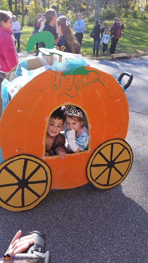 Cinderella and Pumpkin Coach Homemade Costume