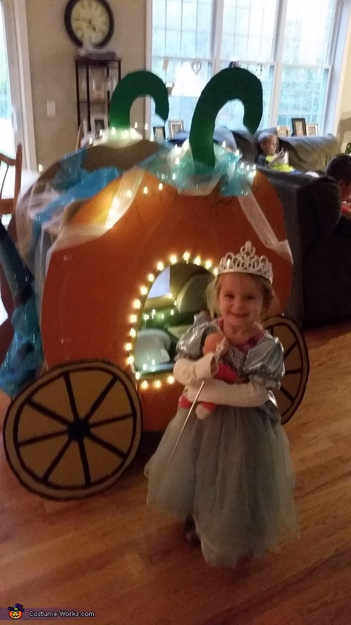 Cinderella and Pumpkin Coach Homemade Costume