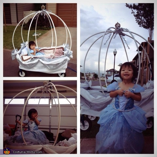 unfinished carriage, Cinderella Carriage Costume
