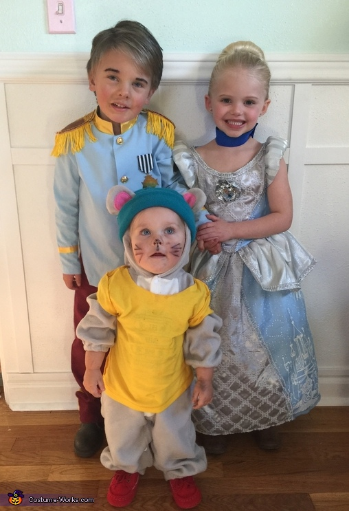 Cinderella, Prince Charming, and Gus Gus Costume