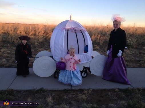 Cinderella, her Driver and wicked Step Sister, Cinderella's Carriage Costume