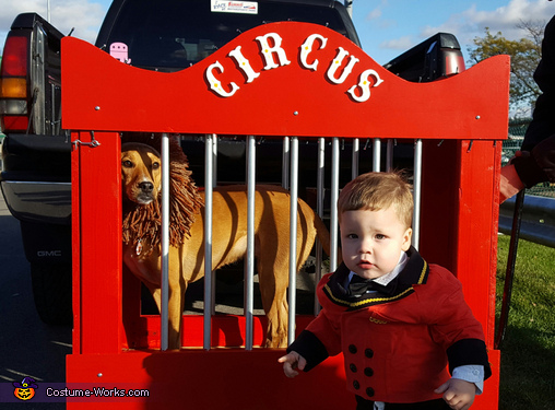 Circus Ring Master & Lion Homemade Costume