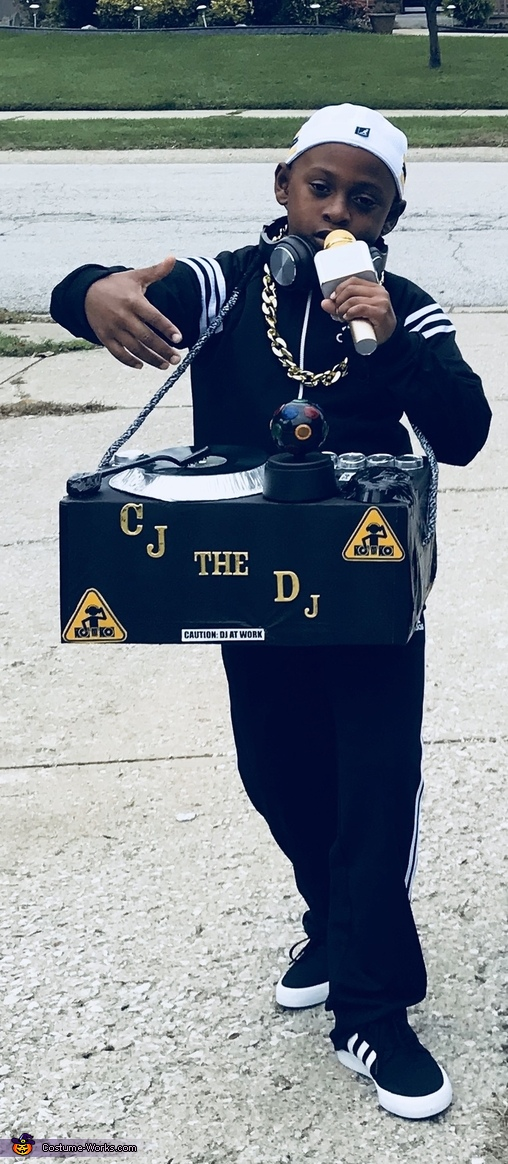CJ the DJ and his Pioneer Speakers Costume