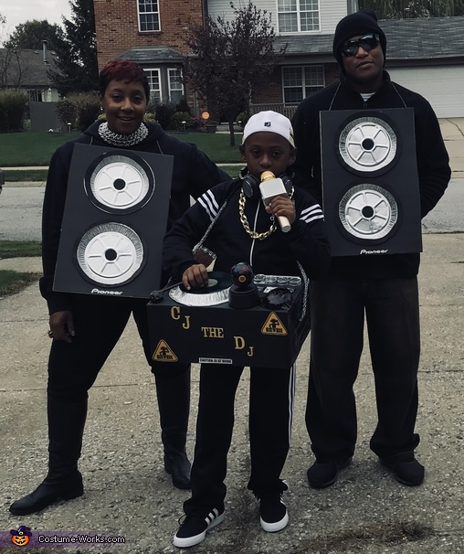Family Costume, CJ the DJ and his Pioneer Speakers Costume