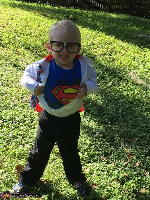 Saving Mommy one goofy face at a time, Clark Kent Costume