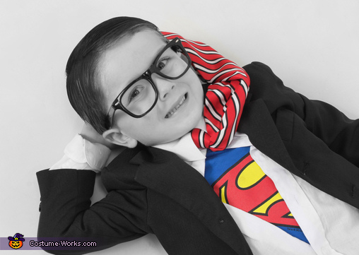 Homemade Clark Kent Costume