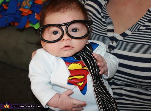 Clark Kent Baby Costume & Cute Clark Kent Baby Costume