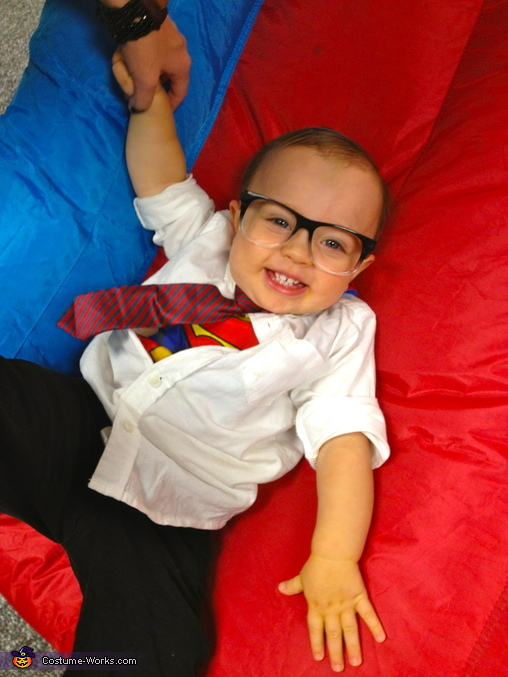 Hey even Clark Kent likes sliding down slides :) at the fall festivals, Clark Kent Costume