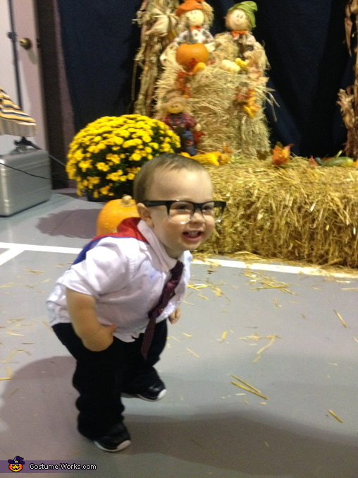 Fun at the fall festival, Clark Kent Costume