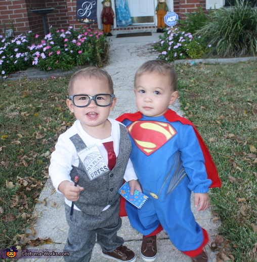 sc 1 st  Costume Works & Clark Kent and Superman Twin Babies Costume