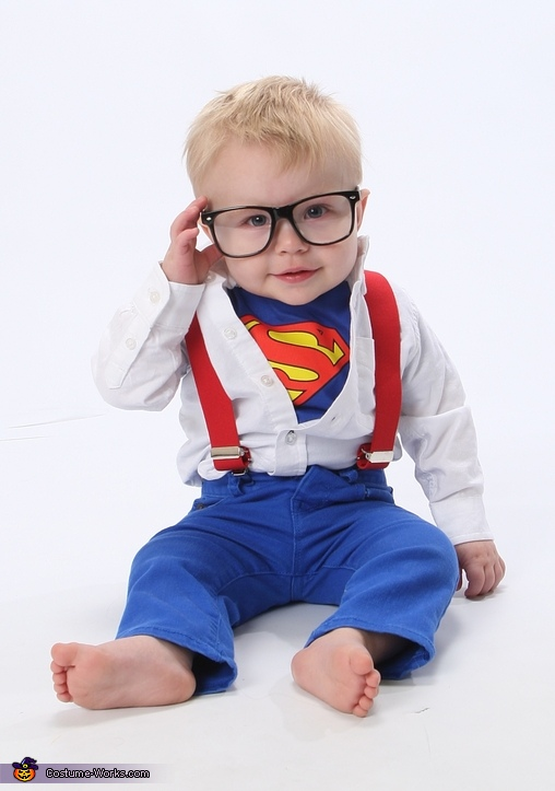 clark kent superman baby costume. Black Bedroom Furniture Sets. Home Design Ideas
