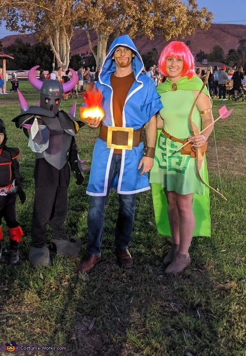Clash of Clans Pekka, Wizard, and archer, Clash of Clans Family Costume
