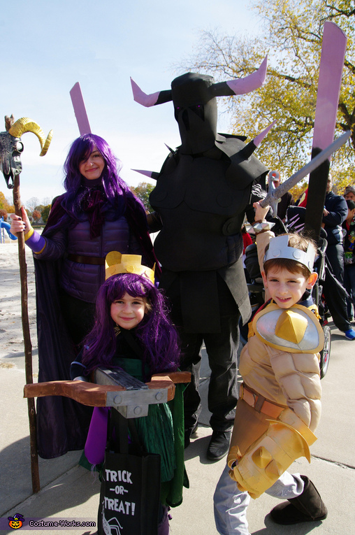 Clash of Clans Family Homemade Costume