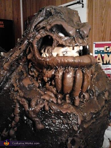 The upper torso in progress!, Clayface from Batman Costume