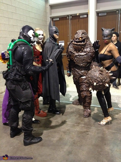 Me with some other Batman fans!, Clayface from Batman Costume