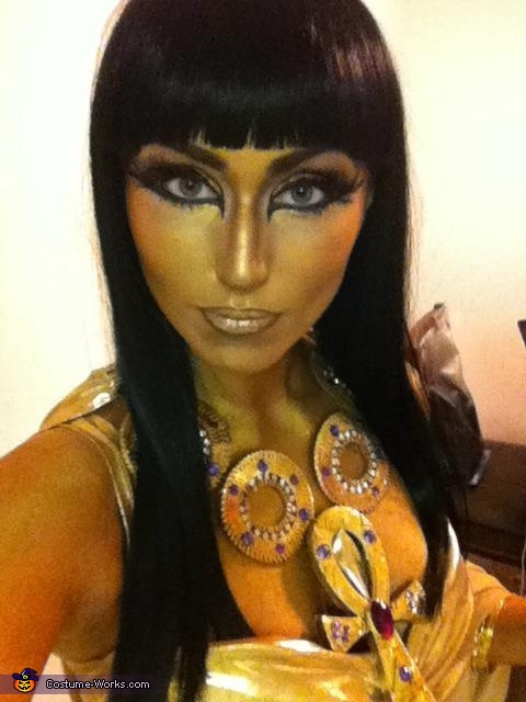 Gold makeup, done by myself, Cleopatra Costume