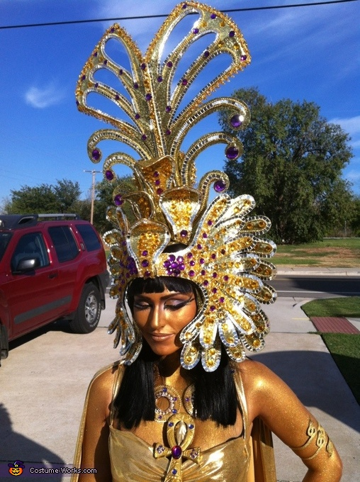 another shot of headpiece, Cleopatra Costume