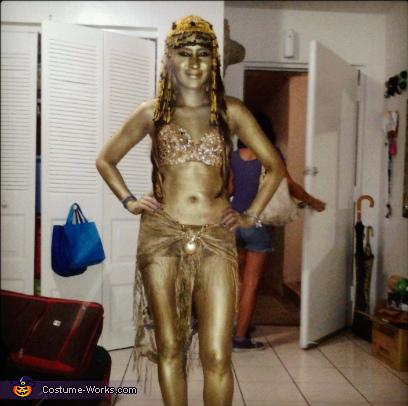 Cleopatra Golden Statue Costume