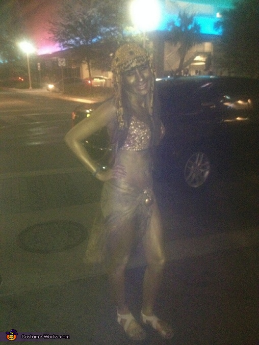 Cleopatra Golden Statue Homemade Costume