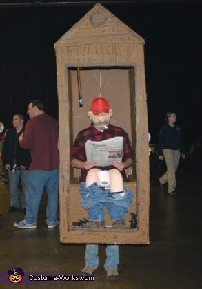 Cletus in an Outhouse Costume