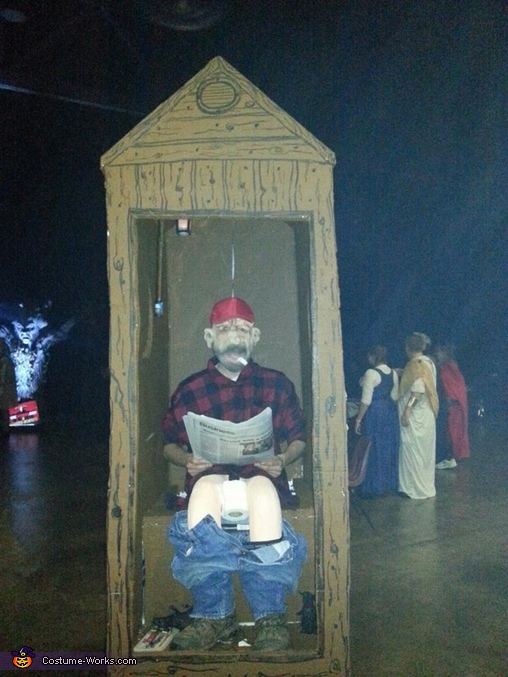 Cletus in an Outhouse Homemade Costume