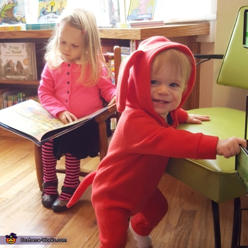 Clifford and Emily Elizabeth Homemade Costume