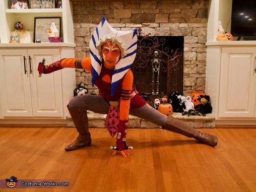 Me trying to pose, Clone Wars Ahsoka Tano Costume