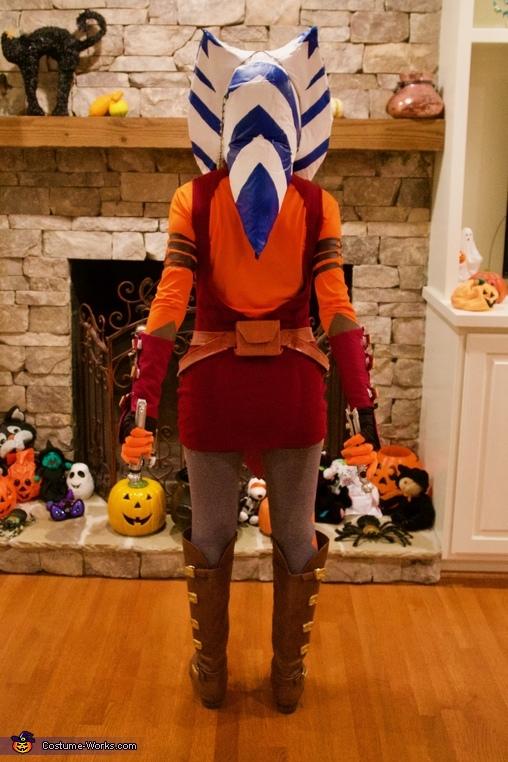 Back of costume, Clone Wars Ahsoka Tano Costume