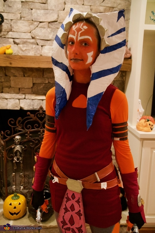 Couldn't really smile because of the makeup, Clone Wars Ahsoka Tano Costume