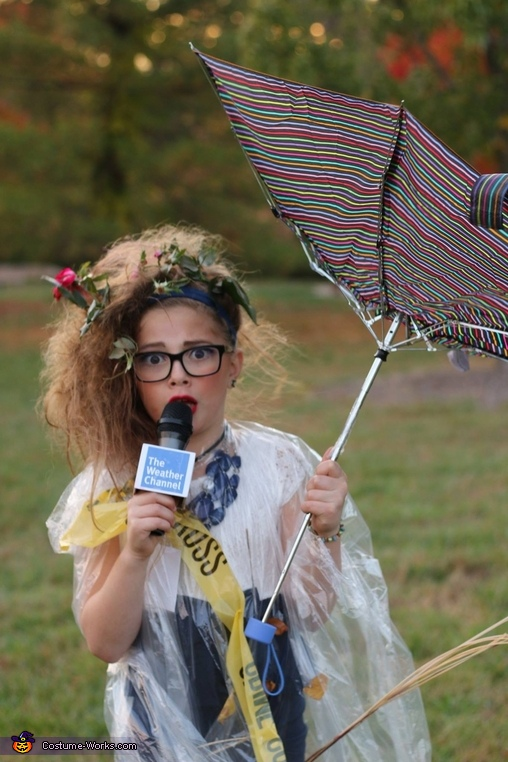Cloudy with a Chance of Candy Homemade Costume