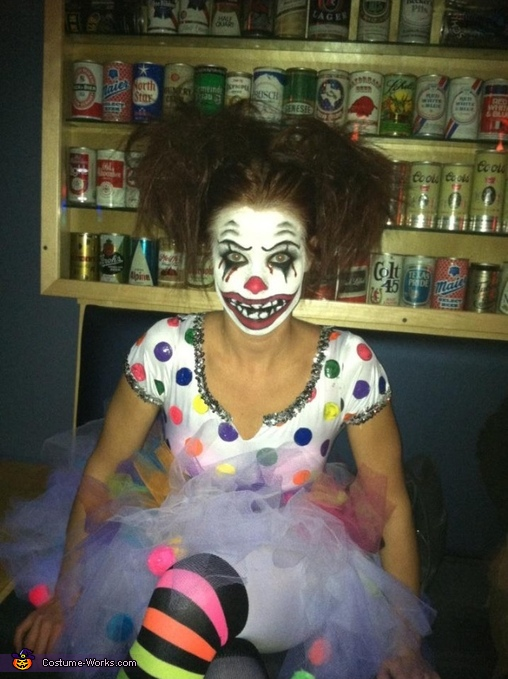 how to make a homemade clown costume