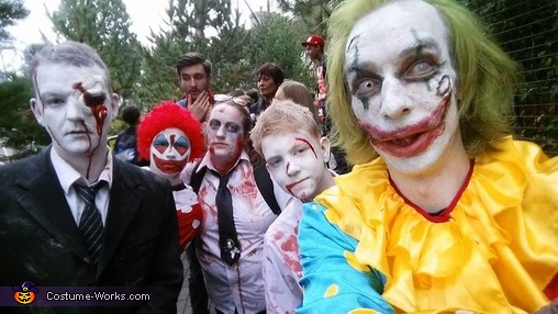 family selfie with me on the right, Clown Craigy Costume