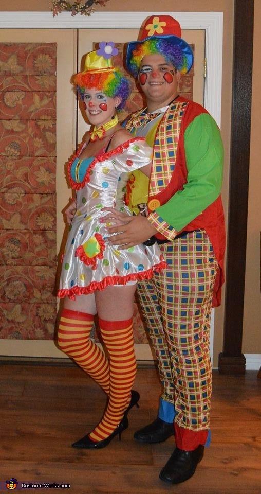 Clownin' Around Couples Costume