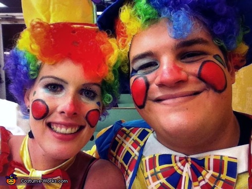Clown Make up, Clownin' Around Couples Costume