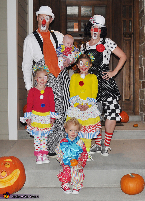 Clowning Around Family Costume