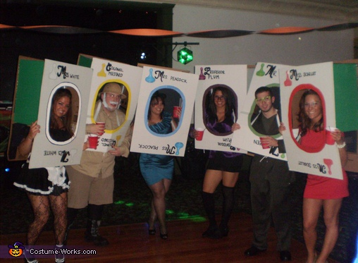 Clue Card Characters Costume