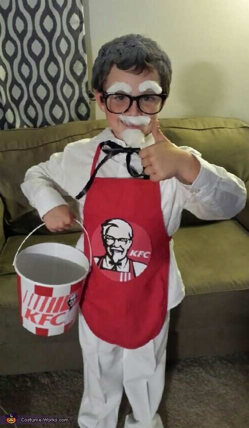 Colonel Sanders & Extra Crispy Chicken Homemade Costume