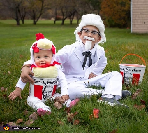Colonel and Bucket of Fried Chicken Costume