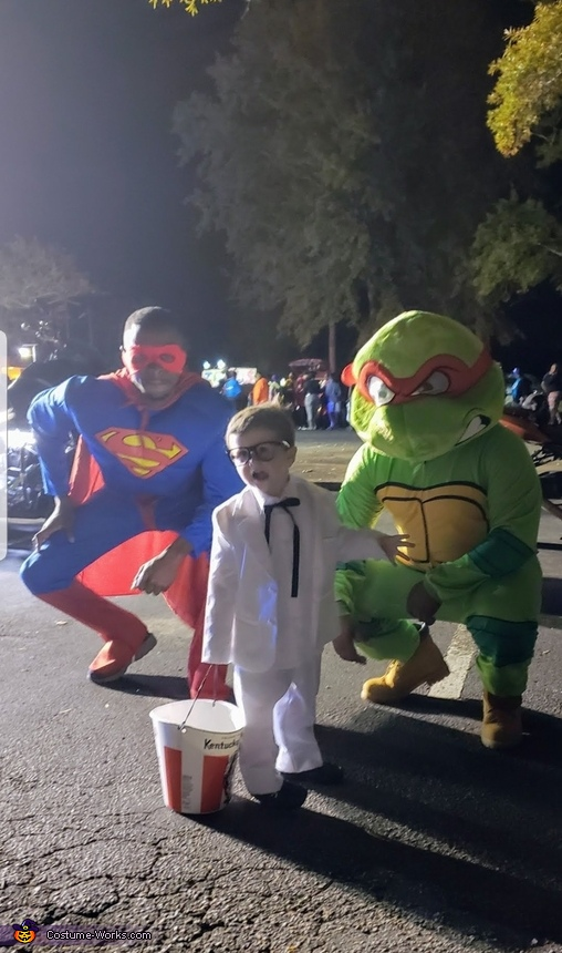 Even the Superheroes wanted to take pictures with me, Colonel Sanders Costume