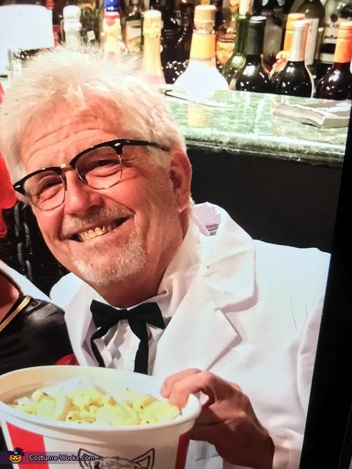 Enjoying the chicken, Colonel Sanders Costume