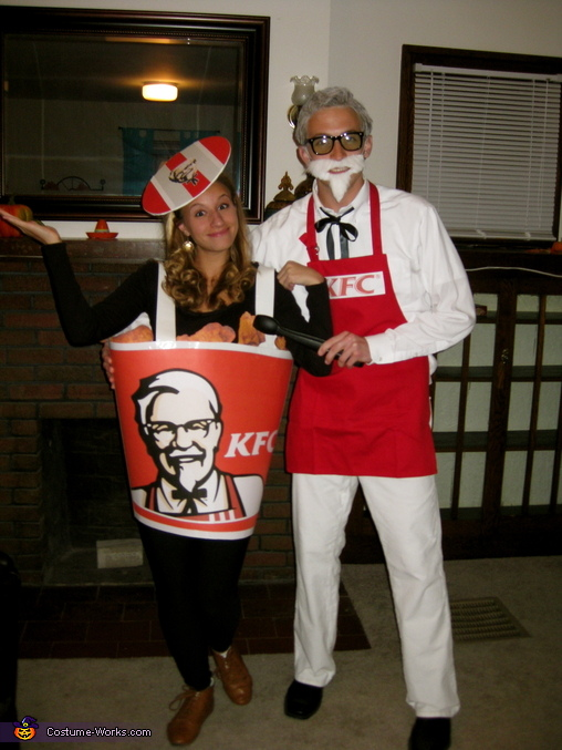 Colonel Sanders and Bucket of Fried Chicken Costume