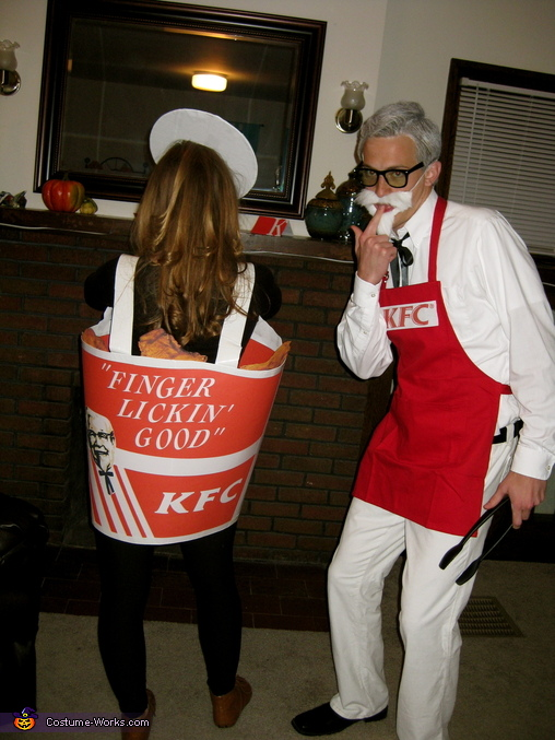Colonel Sanders and Bucket of Fried Chicken Homemade Costume