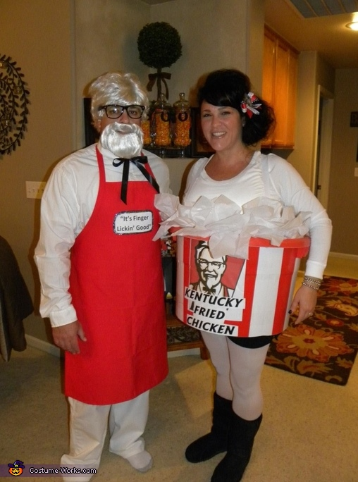 Colonel Sanders and his Bucket of Chicken Costume