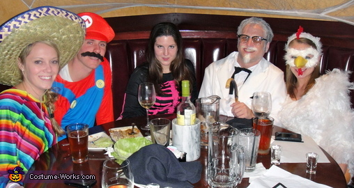 Out with friends, Colonel Sanders and his Chick Couple Costume