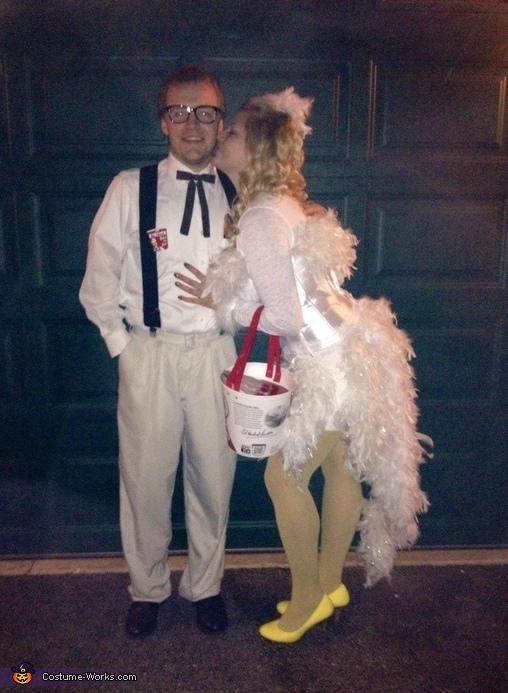 Colonel Sanders and his Chicken Couple Costume