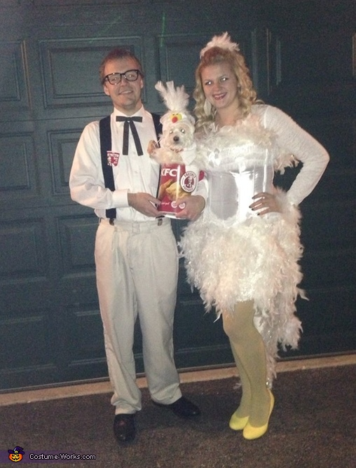 The Colonel and his Chickens , Colonel Sanders and his Chicken Couple Costume