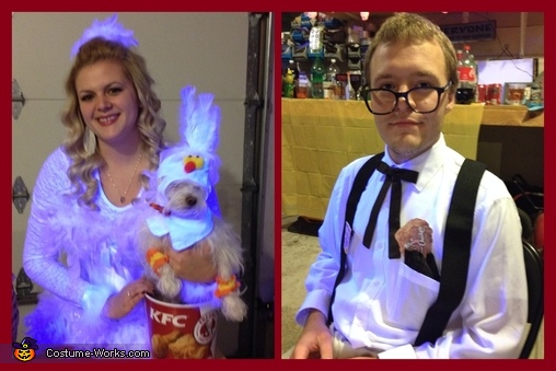 Colonel and Chickens, Colonel Sanders and his Chicken Couple Costume