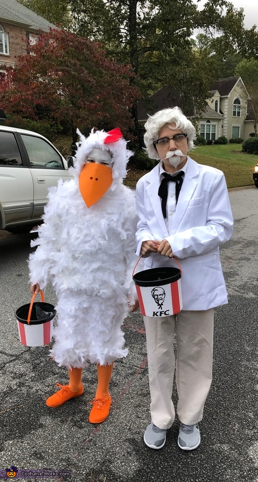 Colonel Sanders and His Chicken Costume