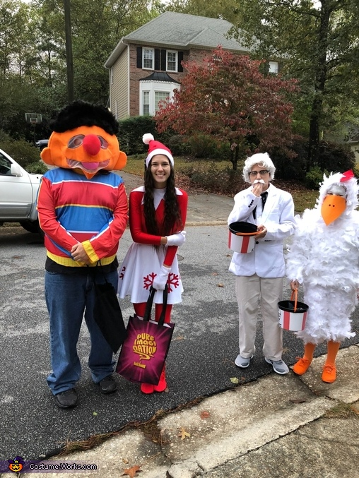 Colonel Sanders and His Chicken Homemade Costume